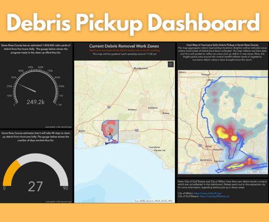 Debris Pickup Dashboard Opens in new window